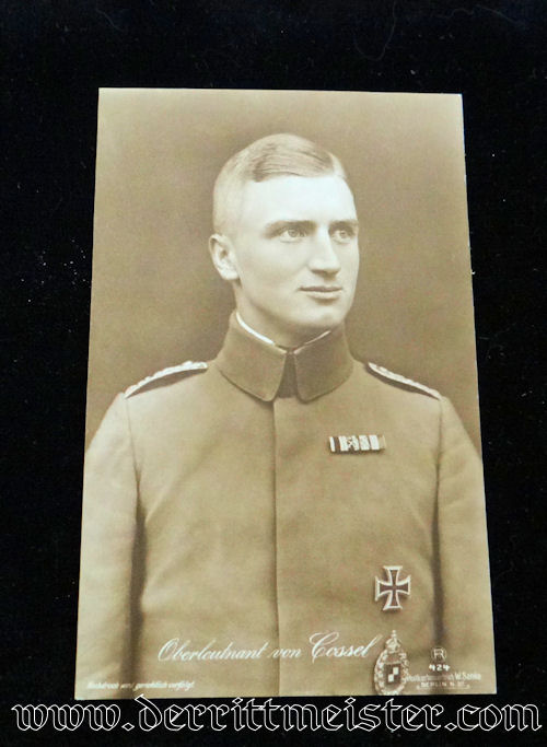 SANKE CARD Nr 424 - OBERLEUTNANT MAX von COSSEL - Imperial German Military Antiques Sale