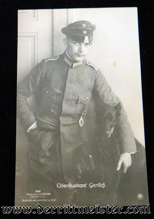 SANKE CARD Nr 388 OBERLEUTNANT MARTIN GERLICH - Imperial German Military Antiques Sale
