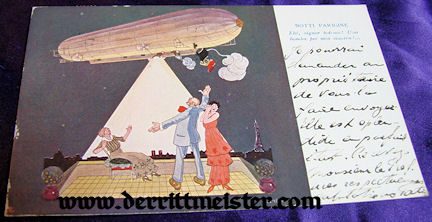 COLOR POSTCARD - ITALIAN PROPAGANDA - ZEPPELIN - Imperial German Military Antiques Sale