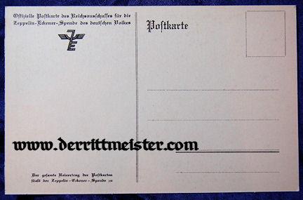 POSTCARD - FERDINAND GRAF von ZEPPELIN - ZEPPELIN-ECKNER SPENDE - Imperial German Military Antiques Sale