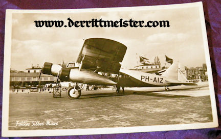 POSTCARD - FOKKER SILBER-MÖWE - Imperial German Military Antiques Sale