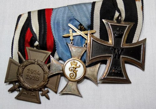WÜRTTEMBERG - FRACK BAR - THREE PLACE - HIGHLIGHTED BY KNIGHT'S CROSS 2nd CLASS WITH SWORDS - Imperial German Military Antiques Sale