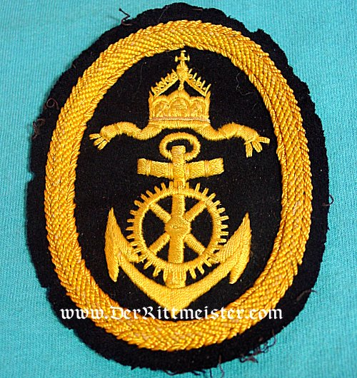 GERMANY - RATING PATCH - NAVY OBER-INGENIER APPLIKANT'S WINTER TUNIC - Imperial German Military Antiques Sale