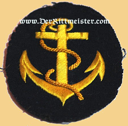 GERMANY - RATING PATCH - REICHSMARINE ORDINARY SEAMAN - Imperial German Military Antiques Sale