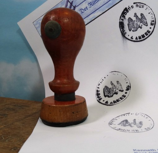 2. ARMEE'S OBERKOMMANDO der FLIEGER UNIT RUBBER STAMP - Imperial German Military Antiques Sale