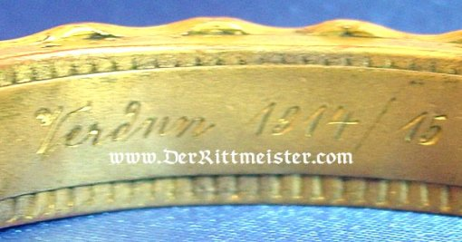 PATRIOTIC BRACELET - TRENCH-ART - Imperial German Military Antiques Sale