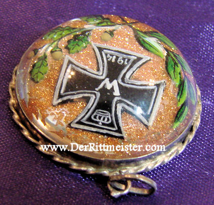 GLASS-DOMED PATRIOTIC IRON CROSS PENDANT