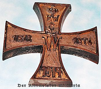 IRON CROSS-SHAPED DESK PIECE - Imperial German Military Antiques Sale