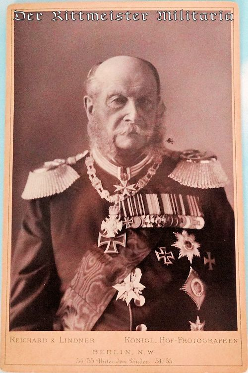 CABINET PHOTOGRAPH OF KAISER WILHELM I - Imperial German Military Antiques Sale