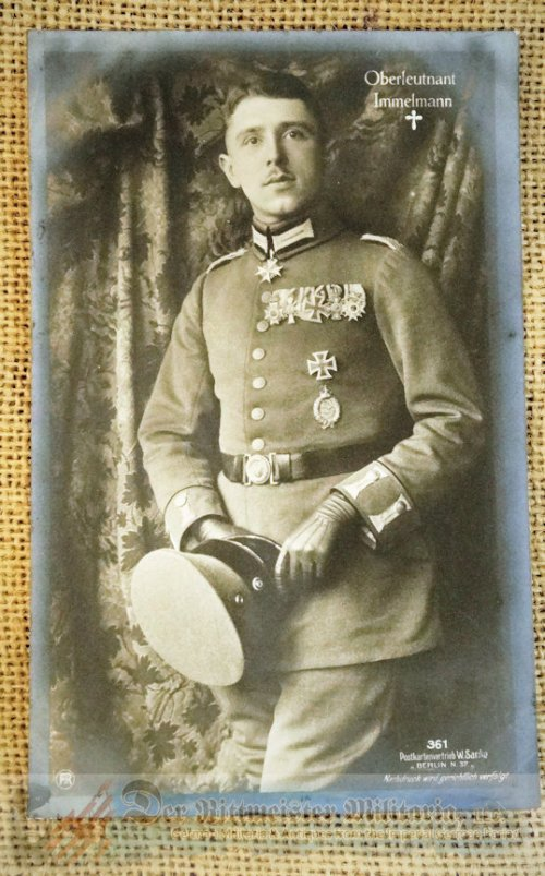 SANKE CARD Nr 361 - OBERLEUTNANT MAX IMMELMANN - Imperial German Military Antiques Sale
