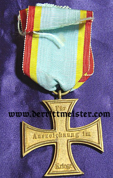MECKLENBURG-SCHWERIN - 1870 MILITARY SERVICE CROSS 2nd CLASS AND URKUNDE - Imperial German Military Antiques Sale