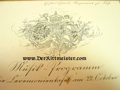 GERMANY - MUSIC PROGRAM - FUNCTION IN 1908 - Imperial German Military Antiques Sale