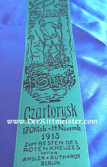 VIVAT RIBBON - GENERALOBERST von GEROF AND THE BATTLE OF CZARTORYSK - Imperial German Military Antiques Sale