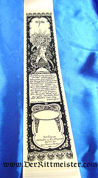 VIVAT RIBBON - CELEBRATING NEW YEARS 1916 - Imperial German Military Antiques Sale