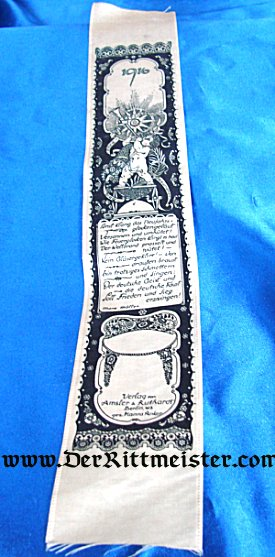 VIVAT RIBBON - 1916 NEW YEAR - Imperial German Military Antiques Sale