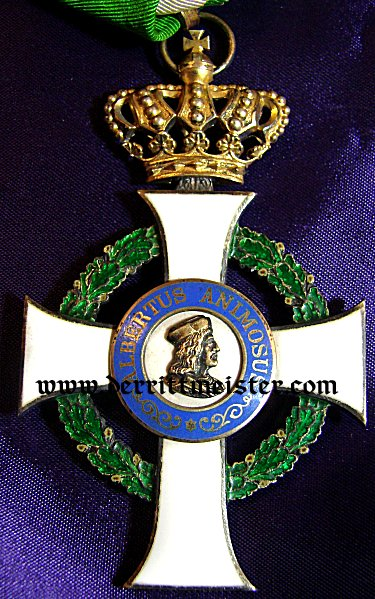 SAXONY - ALBERT ORDER COMMANDER'S CROSS (2nd MODEL)