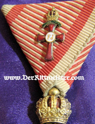 FRANZ JOSEF ORDER WITH SPECIAL OFFICER DEVICE - ORIGINAL PRESENTATION CASE - AUSTRIA - Imperial German Military Antiques Sale