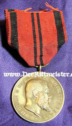 KÖNIG WILHELM II GOLDEN SERVICE MEDAL - WÜRTTEMBERG - Imperial German Military Antiques Sale