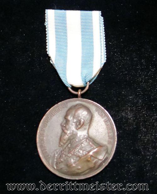 BRONZE PRINZ LUITPOLD JUBILEE MEDAL (1854-1904) FOR K.u.K CORPS-ARTILLERIE REGIMENT Nr 10 - BAVARIA - Imperial German Military Antiques Sale