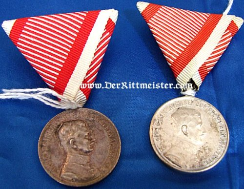 KAISER KARL SILVER SERVICE MEDAL - AUSTRIA - Imperial German Military Antiques Sale