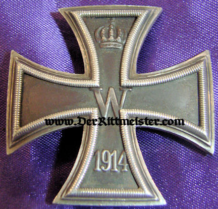 IRON CROSS - 1914 - 1st CLASS - LOW VAULTED - .930 SILVER HALLMARKED - ORIGINAL PRESENTATION CASE - Imperial German Military Antiques Sale