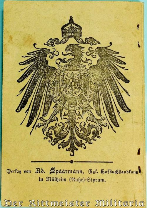 LIEDERBUCH FOR JÄGER BATAILLON Nr 3 - Imperial German Military Antiques Sale