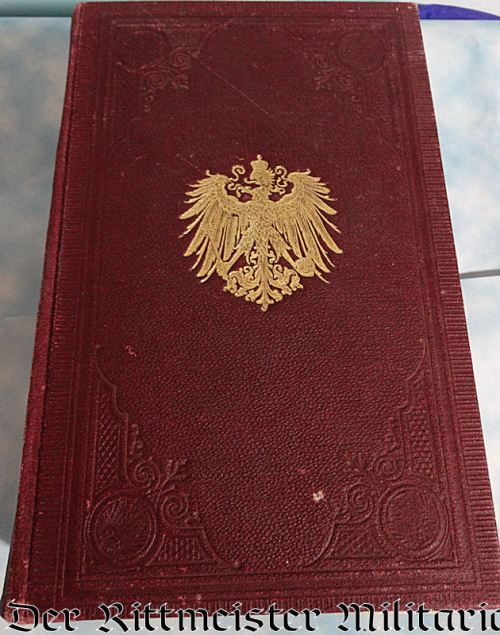 PRUSSIA - RANGLISTE - 1898 - ARMY RANG-UND-QUARTIER-LISTE - Imperial German Military Antiques Sale