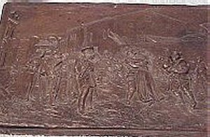 HIGH RELIEF METAL PLAQUE - Imperial German Military Antiques Sale