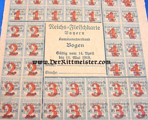 BAVARIA - RATION STAMPS - FOUR SETS - Imperial German Military Antiques Sale
