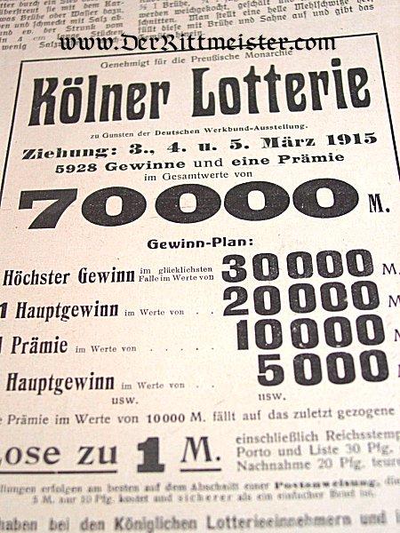"""GERMANY - NEWSPAPER - """"DIE FRAUEN FÜR SORGE"""" - Imperial German Military Antiques Sale"""