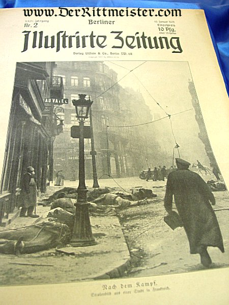 GERMANY - NEWSPAPER - BERLINER ILLUSTRIRTE-ZEITUNG - Imperial German Military Antiques Sale