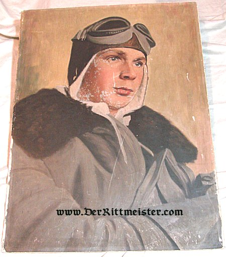 GERMANY - PAINTING - PILOT - Imperial German Military Antiques Sale