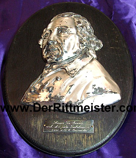 PRUSSIA - WALL PLAQUE - FREDERICK THE GREAT - METAL - Imperial German Military Antiques Sale