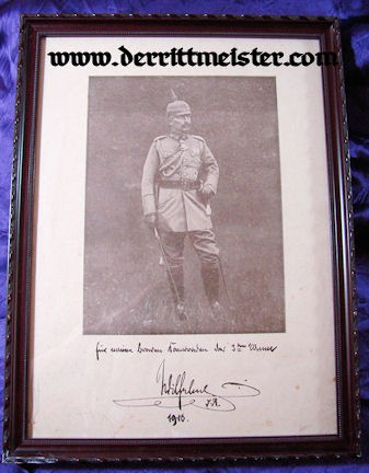 PRUSSIA - LITHOGRAPH - FRAMED - KAISER WILHELM II - Imperial German Military Antiques Sale