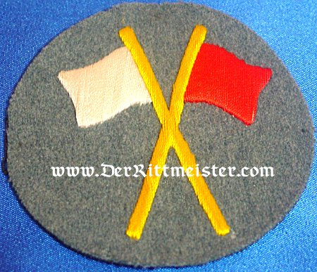 GERMANY - SIGNALMAN PATCH - ENLISTED MAN - MACHINE GUN ABTEILUNG - Imperial German Military Antiques Sale