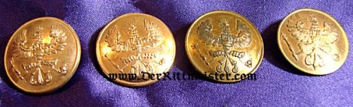 PRUSSIA - COLLAR BUTTONS - NCO - Imperial German Military Antiques Sale