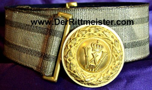 PRUSSIA - BROCADE DRESS BELT AND BUCKLE - OFFICER - Imperial German Military Antiques Sale