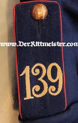 SAXONY - TUNIC - ENLISTEN MAN- GEFREITER INFANTERIE-REGIMENT Nr 139 - Imperial German Military Antiques Sale