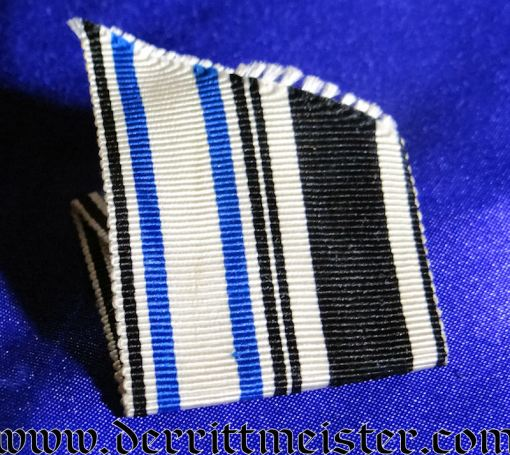 BAVARIA - RIBBON FOR A UNIFORM FOR 1914 IRON CROSS 2nd CLASS AND MILITARY MERIT CROSS 3rd CLASS WITH SWORDS - Imperial German Military Antiques Sale