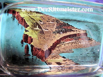 GERMANY - ASHTRAY - HELGOLAND ISLAND - GLASS - Imperial German Military Antiques Sale