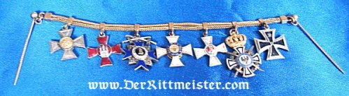 GERMANY - MINIATURE - SEVEN-PLACE OFFICER'S TIE-BAR CHAIN - Imperial German Military Antiques Sale