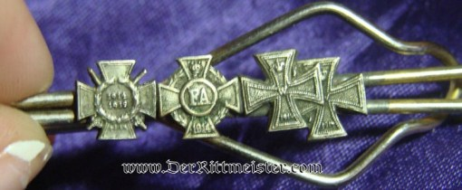 GERMANY - MINIATURE - FOUR-PLACE - TIE BAR - Imperial German Military Antiques Sale