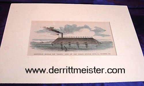 U.S. - COLORIZED LITHOGRAPH - C. S. S. GEORGIA - Imperial German Military Antiques Sale