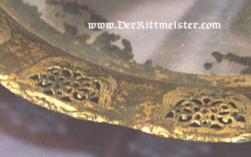 GERMANY - SERVING TRAY - SILVERED WITH MIRRORED BASE - Imperial German Military Antiques Sale