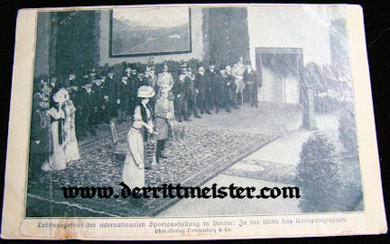 POSTCARD - CROWN PRINCE WILHELM - CROWN PRINCESS CECILIE - Imperial German Military Antiques Sale
