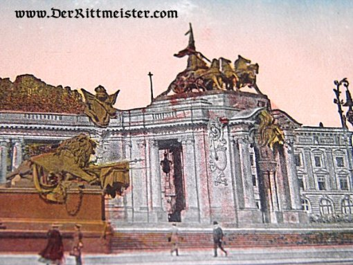 COLORIZED POSTCARD - KAISER WILHELM I MONUMENT - BERLIN - Imperial German Military Antiques Sale