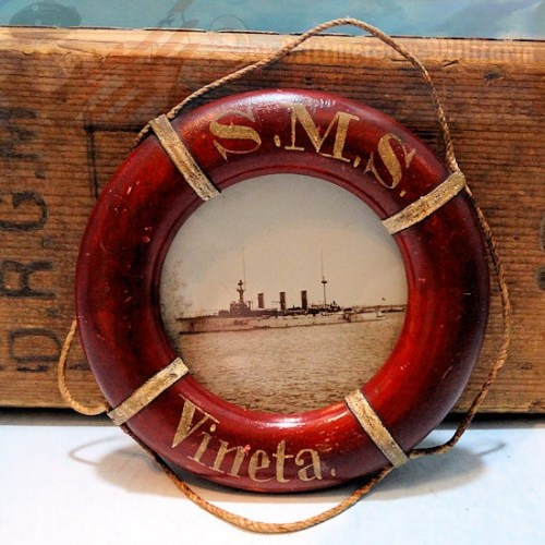 FRAMED PHOTO - S.M.S. VINETA - LIFE PRESERVER SHAPED