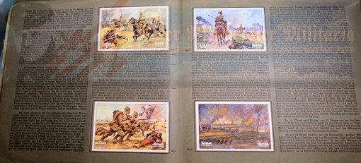 GERMANY - CIGARETTE CARD ALBUM - WELTKRIEG 1914 /1918 - Imperial German Military Antiques Sale
