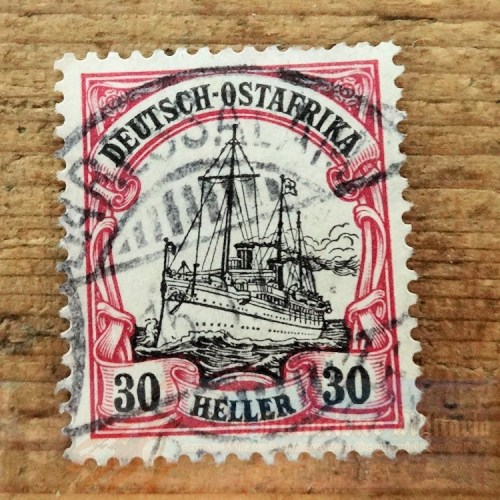EAST AFRICA COLONIAL- STAMP - 30 HELLER - POSTMARKED DAR ES SALAAM - Imperial German Military Antiques Sale