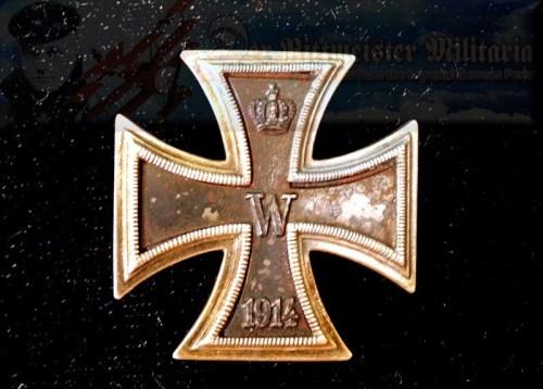 IRON CROSS - 1914 - 1st CLASS - PRINZENGROßE - WARENHAUS FÜR ARMEE UND MARINE HALLMARK - .800 SILVER HALLMARK - Imperial German Military Antiques Sale